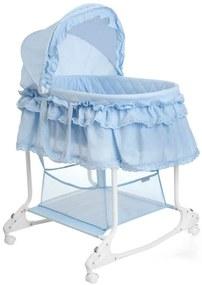 414970 Little World Pătut balansoar 2-în-1 85x70x110 cm, albastru LWFU002-LBL