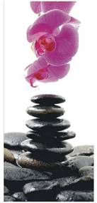 Fototapet cu orhidee si pietre Feng Shui