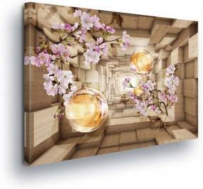 Tablou - Purple Flowers in the Tunnel 100x75 cm