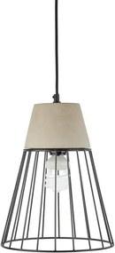 Loocida Sonnenstein STUDIE 78, lampă de beton suspendată, beton și oțel