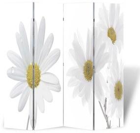 240477 vidaXL Paravan de cameră pliabil, 160 x 170 cm, flori
