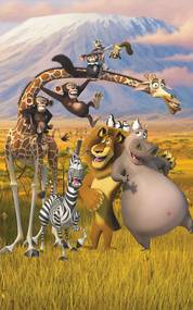 Walltastic Madagaskar - fototapet pe perete 152 x 243 cm (lățime x înălțime)