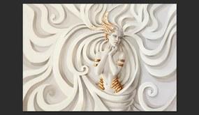 Fototapet Bimago - Goddess In Gold + Adeziv gratuit 300x210 cm