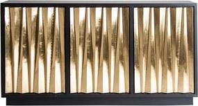 Bufet inferior auriu/negru din MDF si alama 150 cm Wolen Vical Home