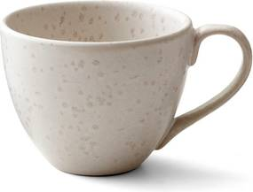 Ceașcă din gresie ceramică pentru ceai Bitz Basics Matte Cream, 460 ml, crem