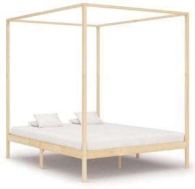 283255 vidaXL Cadru pat cu baldachin,180 x 200 cm, lemn masiv de pin