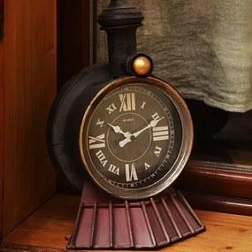 Ceas cu model Locomotiva din metal 19x31 cm