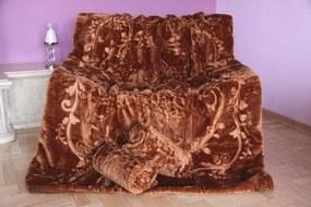 Husă canapea culoarea maro Lăţime: 160 cm | Lungime: 210 cm 2 buc Lățime: 70 cm I Lungime: 160 cm