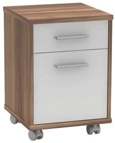 Container de birou prun/alb JOHAN 2 NEW 08