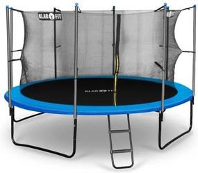 Klarfit Rocketboy 366, 366 cm trambulină, plasă internă de securitate, scară largă, albastru