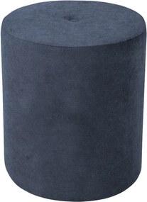 Taburet Kooko Home Motion, ø 40 cm, albastru închis-bej