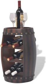 Raft sticle de vin, în formă de butoi, 8 sticle, maro