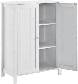 [en.casa]® Dulap baie AANT-0336 cu 3 rafturi, 80 x 60 x 30 cm, placa MDF, lacuit, alb