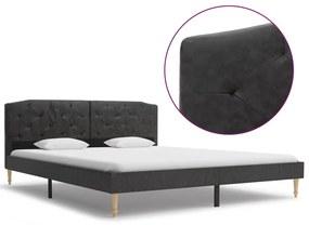 280550 vidaXL Cadru de pat, negru, 160 x 200 cm, material textil