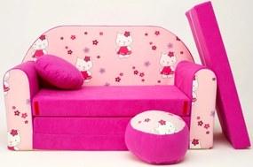 Canapea extensibilă pentru copii Hello Kitty H 23+
