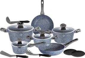 Set oale marmorate 15 piese Forest Line Dark Gray Berlinger Haus BH 1578