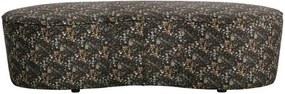 Bancheta imprimeu catifea Macaroni Sofa Flower Black