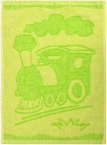 Prosop copii Train green, 30 x 50 cm