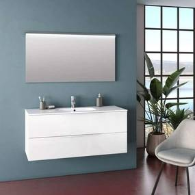 Set mobilier pentru baie Malmo White 3 piese