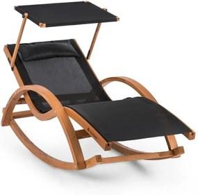 Blumfeldt Malibu, canapea tip leagăn cu acoperiș comfortmesh, 150kg max., impermeabilă, neagră