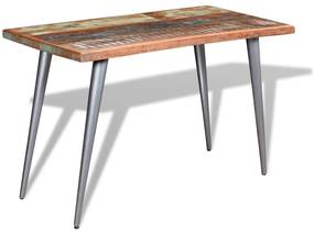 244242 vidaXL Masă de bucătărie, 120 x 60 x 76 cm, lemn masiv reciclat