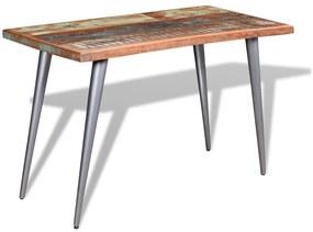 244242 vidaXL Masă de bucătărie din lemn masiv reciclat, 120 x 60 x 76 cm