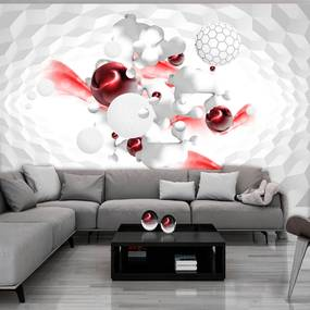 Fototapet Bimago - Race of Colours - Red + Adeziv gratuit 250x175 cm