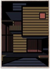 Tablou cu rama stejar Empty Spaces 01 Paper Collective
