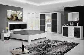 Set dormitor 5 piese din pal ROMA WHITE