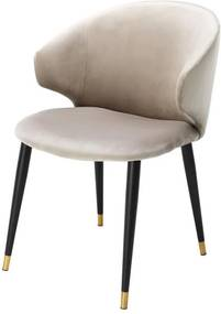 Scaun dining bej Volante Dining Chair With Arm