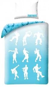 Lenjerie de pat din bumbac Halantex Fortnite 042, pentru copii, 140 x 200 cm, 70 x 90 cm