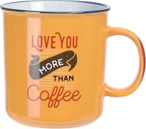 Cana Coffee din ceramica galbena 12 cml