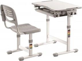 Set birou pentru copii, reglabil pe inaltime Comfortline Gri, L66,4xl47,4xH54 cm
