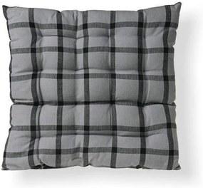 Pernă matlasată pentru scaune Indie cub gri 38 x 38 cm