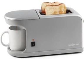 OneConcept QUICKIE 2-în-1, toaster dublu, mini-filtru de cafea, inclusiv cești de cafea