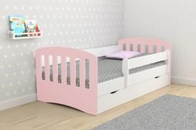 copii pat clasice- multicolor 180x80 cm rosu pulbere pat + spațiu de depozitare