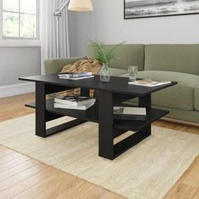 800541 vidaXL Măsuță de cafea, negru, 110 x 55 x 42 cm, PAL