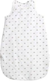 Lorelli - Sac de dormit fara maneci Crowns din Bumbac, 10x55 cm, Alb