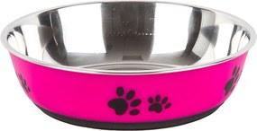 Vas din inox pentru animale Paws roz 22 cm