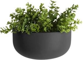 Ghiveci suspendat din ceramică PT LIVING Nest, negru mat