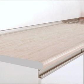 Blat de bucatarie, 40.5x60x2.8 cm, PAL/HPL Travertin