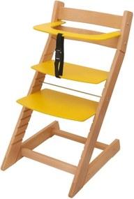 Scaun reglabil pe inaltime pentru copii Unize-galben