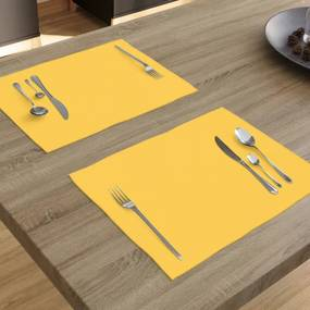 Goldea suport farfurie decorative loneta - galben închis - 2 buc 30 x 40 cm