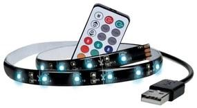 Solight WM504 - SET 2x Bandă LED RGB pentru TV cu telecomandă LED/USB 2x50cm