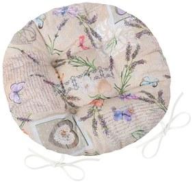 Pernuță rotundă Bellatex Ema Patchwork Lavandă, 40 cm