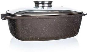 Tavă Banquet Premium Dark Brown, cu capac aroma knob