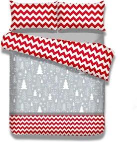 Lenjerie de pat din flanel AmeliaHome Christmas Mess, 140 x 200 cm