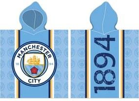 Poncho copii Menchester City, 50 x 100 cm