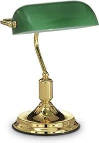 Lampa de birou Lawyer TL1 Ottone, Ideal Lux