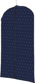 Husă pentru haine Compactor Dots, lungime 100 cm, albastru închis